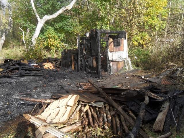 W piątek przed południem w Ustce doszczętnie spaliła się altana, w której prawdopodobnie mieszkali bezdomni.