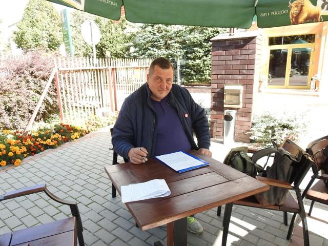 Adam Kraśko na castingu do filmu o Zenku Martyniuku