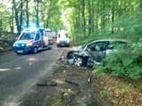 Gmina Malechowo: Poważny wypadek w okolicy Ostrowca, 4 osoby ranne [zdjęcia]