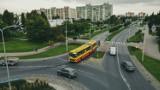 Autobus Ikarus na ulicach Słupska. ZDJĘCIA z lotu ptaka