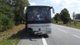 Lipno: Nietrzeźwy kierowca autokaru wjechał w barierkę [ZDJĘCIA]