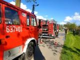 Pożar budynku w Damasławku. Interweniowały zastępy straży pożarnej z całej okolicy