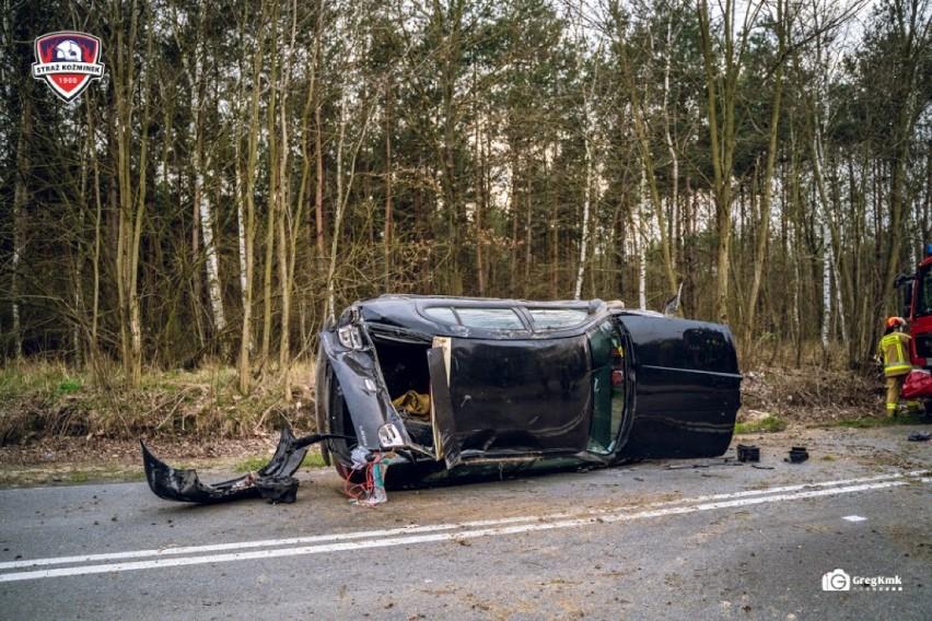 Pijany kierowca dachował autem w miejscowości Młynisko koło...