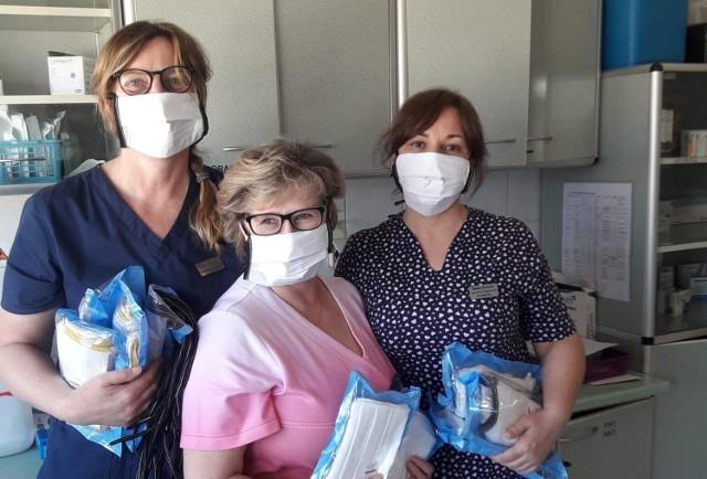 Od lewej: Barbara Rożnawska- Czerwińska, Maria Stankowska, Beata Byrczek. Pielęgniarki ze Szpitala Powiatowego w Chrzanowie