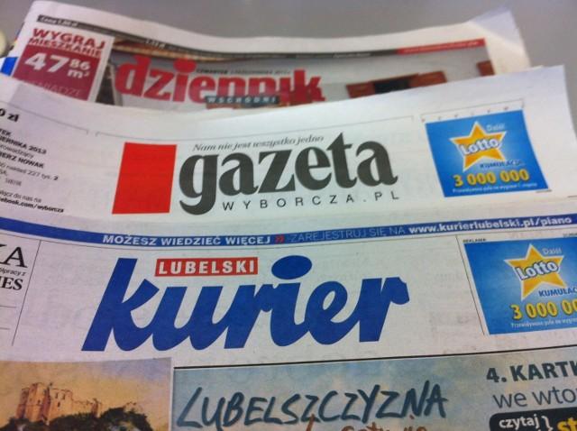 Przegląd lubelskiej prasy: Kurier Lubelski, Dziennik Wschodni, Gazeta Wyborcza