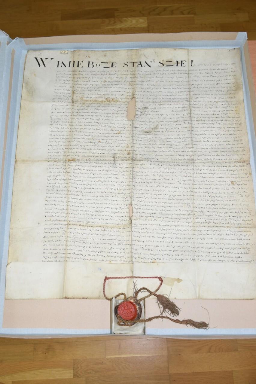 Najstarszy dokument w zbiorach archiwum