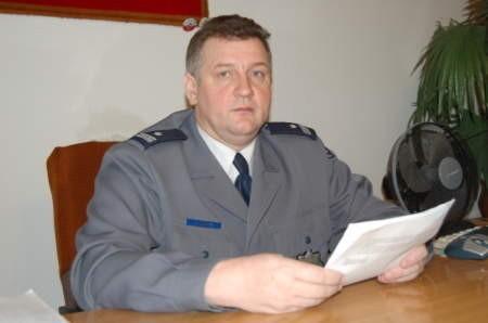Komendant Marek Mazur ma w Miastku największą wykrywalność w powiecie bytowskim. FOT. MATEUSZ WĘSIERSKI