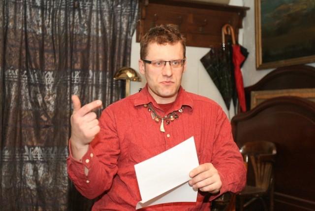 Wojciech Bednarek, członek komitetu chcącego odwołać w referendum prezydent Łodzi Hannę Zdanowską.