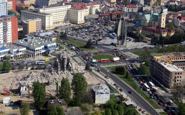 Rzeszów z lotu ptaka, maj, 2007 r. Zdjęcia wykonano ze śmigłowca.