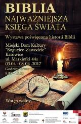 Rekopisy Biblii sprzed wieków, zwój Tory, prasa Gutenberga na wystawie w Bogucicach