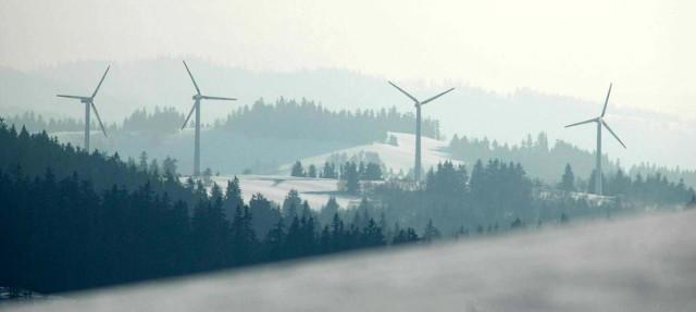Elektrownie wiatrowe w Beskidach na Słowacji