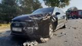 Karambol na drodze krajowej nr 94. Pod Izbickiem zderzyły się cztery samochody. Jedna osoba w szpitalu [ZDJĘCIA]