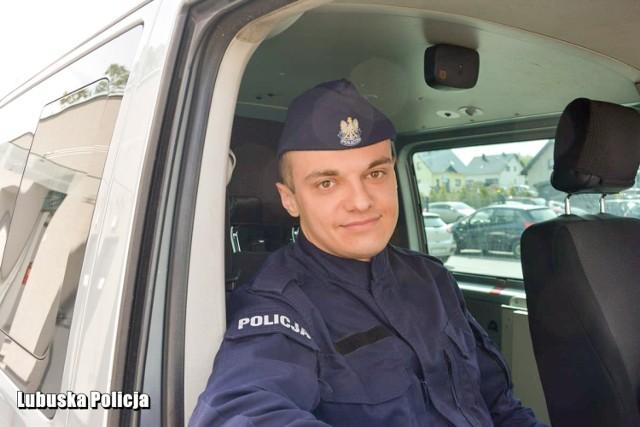 Wywiad z młodym policjantem, post. Sebastianem Popielarzem, pracującym w Komendzie Powiatowej Policji w Krośnie Odrzańskim.