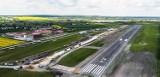 Wkrótce zakończą się prace budowlane na uczelnianym lotnisku PWSZ w Chełmie. Pas betonowy już gotowy. Zobacz zdjęcia