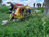 Śmiertelny wypadek w Bąkowie Górnym koło Łowicza. Zginęło starsze małżeństwo