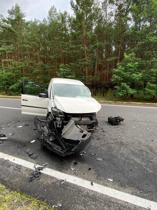 Wypadek w okolicach Brzózki. Droga jest zablokowana.