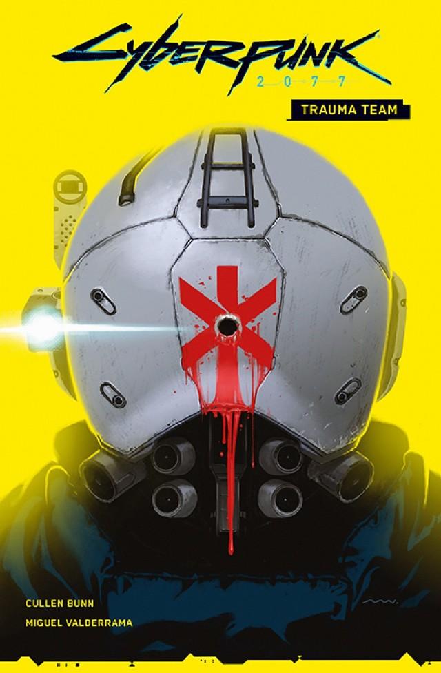 """Cyberpunk 2077: Trauma Team, tom 1 Scenariusz: Cullen Bunn Rysunki: Miguel Valderrama Przekład: Zofia Sawicka Oprawa: miękka ze skrzydełkami Objętość: 96 stron Format: 167x255  Cena: 39,99 ISBN: 978-83-281-5887-0 Język oryginału: angielski  Seria: Cyberpunk Kategoria: komiks amerykański Tematyka: science fiction  """"Trauma Team"""" to pierwszy z serii komiksów powiązanych z długo oczekiwaną grą komputerową """"Cyberpunk 2077"""", która pobiła wszelkie rekordy sprzedaży i wzbudziła wiele emocji wśród graczy. Komiks nie wymaga znajomości świata gry, ale może stanowić doskonałe wprowadzenie do realiów kalifornijskiego Night City.  Nadia, ratowniczka medyczna pracująca w Trauma Team International, jako jedyna przeżyła misję ratunkową, która zamieniła się w krwawą jatkę. Gdy decyduje się na powrót do pracy i udział w kolejnym zleceniu, odkrywa, że tym razem jego celem jest ocalenie mężczyzny odpowiedzialnego za śmierć jej partnerów z poprzedniego zespołu. Klient jej korporacji utknął na setnym piętrze wieżowca pełnego członków wrogiego gangu. Czy ta misja ma szansę na powodzenie? Autorem scenariusza jest Cullen Bunn (""""Deadpool"""", """"Moon Knight""""), a rysunki przygotował Miguel Valderrama (""""Giants""""). Album zawiera zeszyty miniserii """"Cyberpunk 2077: Trauma Team"""" #1–4."""