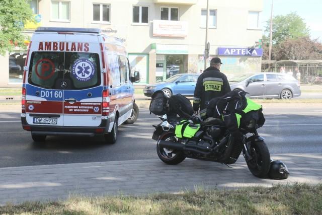 Wypadek na al. Kromera we Wrocławiu 11.06.2021