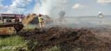 Pożar stogu słomy w Kobylu w gm. Stara Kiszewa. W akcji brało udział 6 jednostek straży pożarnej [ZDJĘCIA]