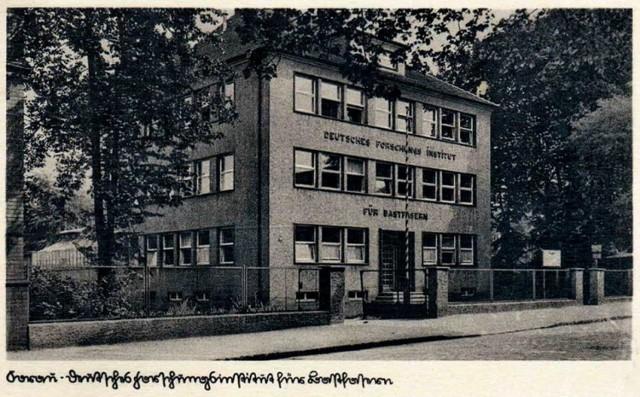 Parkowa 5, czyli przed wojną Forschungs Institut für Bastfaser, (instytut badawczy włókien)