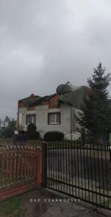 Przez powiat wieluński przechodzą ulewy z silnym wiatrem. Niestety, nie obeszło się bez szkód ZDJĘCIA FILMIK
