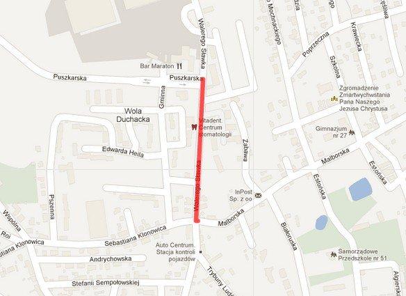 Krakow Rozpoczyna Sie Remont Ul Walerego Slawka Mapa Krakow
