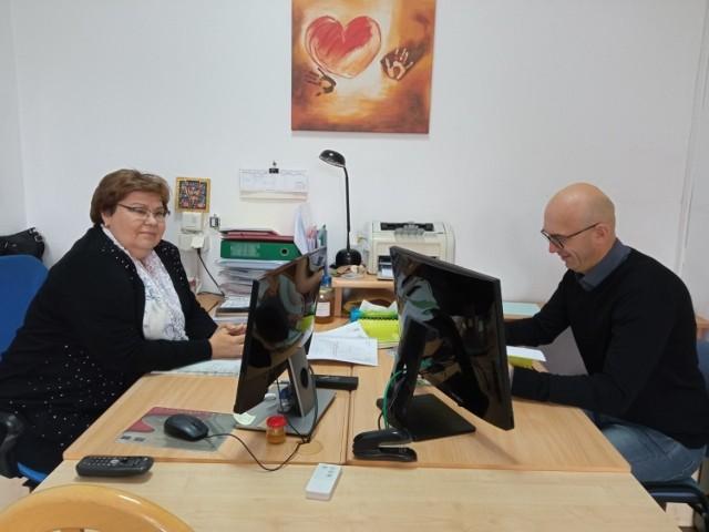 dyrekcja Medycznego Studium Zawodowego  - Jarosław Marcinkowski, Jolanta Jankowska - Iwasiewicz