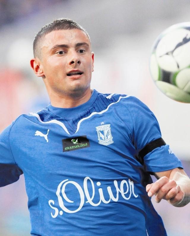 Jakub Wilk miał udział przy ostatnim golu Lecha na Bułgarskiej w meczu z Podbeskidziem Bielsko-Biała