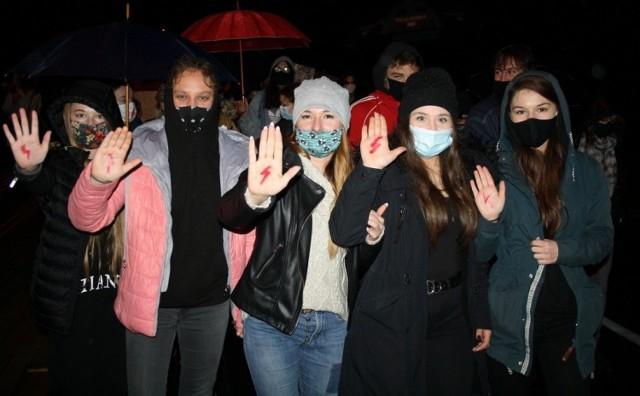 Protest kobiet w Grodkowie.
