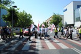 """Górnicy KWB """"Konin"""" zablokowali główną ulicę miasta"""
