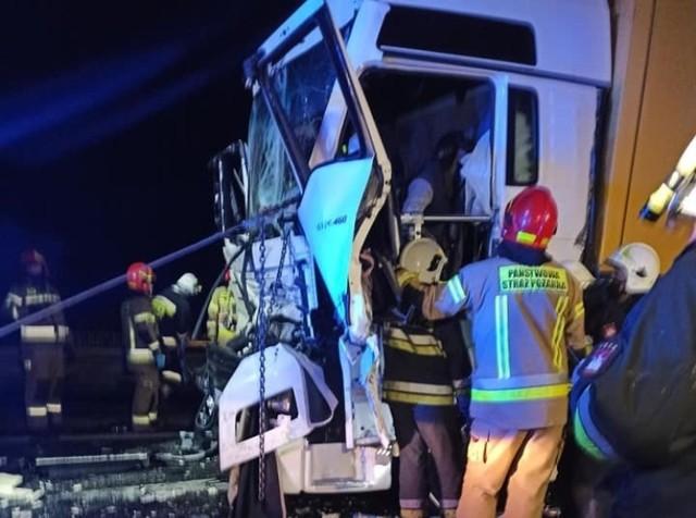 Wypadek na DK 91 w Koziegłowach. Trasa w kierunku Katowic zablokowana