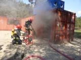 Ćwiczenia strażaków w Niemczech