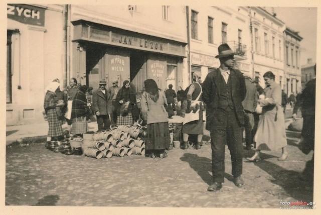 Październik 1939 r. Rynek w Jaśle.