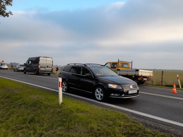 Kolizja sześciu pojazdów na trasie Powodowo-Wolsztyn