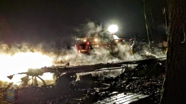 Pożar w Skorzęcinie. Ogień pojawił się na terenie ośrodka wypoczynkowego