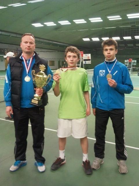 Trener Mikołaj Weymann, Bartosz Łosiak i Paweł Jankowiak