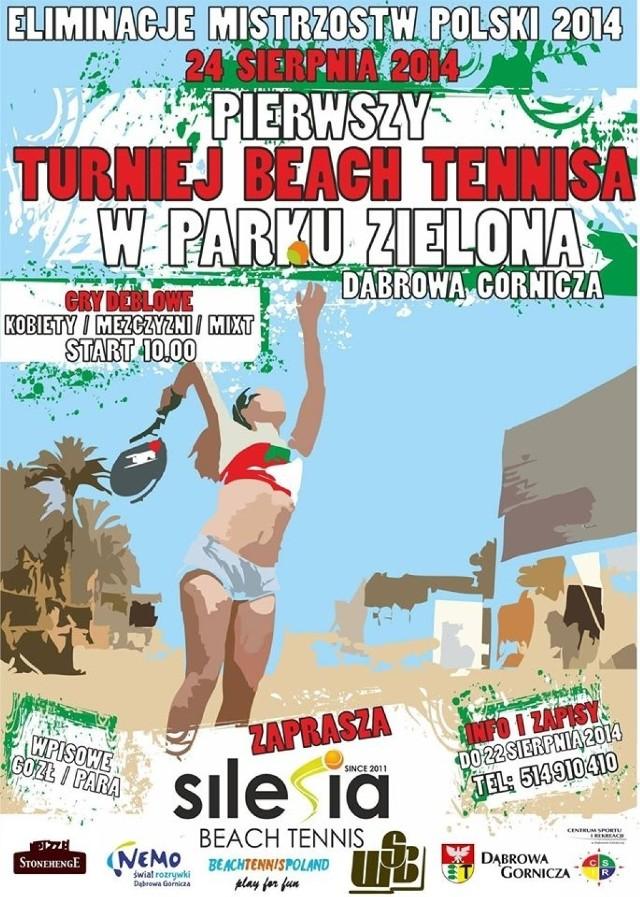 Turniej Beach Tennisa odbędzie się na Zielonej
