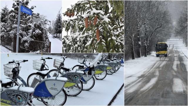 8 marca 2021 przywitał tarnowian intensywnymi opadami śniegu