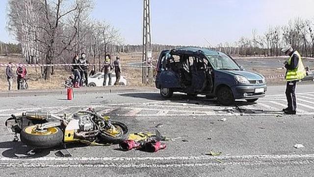 Wypadek motocyklisty w Miasteczku Śląskim