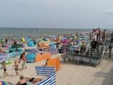 Niedziela na plaży w Sarbinowie. Pogoda zachęcała do plażowania [ZDJĘCIA]