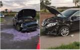 Zderzenie samochodów na skrzyżowaniu w gminie Brześć Kujawski. Jedna osoba w szpitalu [zdjęcia]