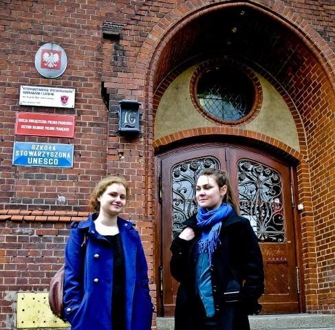 Maria Kwiatkowska i Klementyna Lewińska z Gimnazjum Dwujęzycznego przy Zespole Szkół Ogólnokształcących nr 1