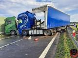 Wypadek pod Grójcem. Dwie ciężarówki zderzyły się na drodze krajowej numer 7. Były utrudnienia na trasie