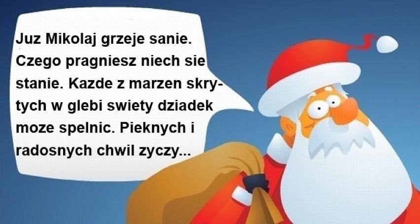 śmieszne życzenia Na Mikołajki 2017 Na 6 Grudnia Wierszyki