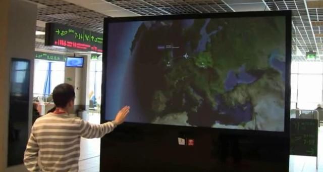 Bezdotykowy ekran w Pyrzowicach