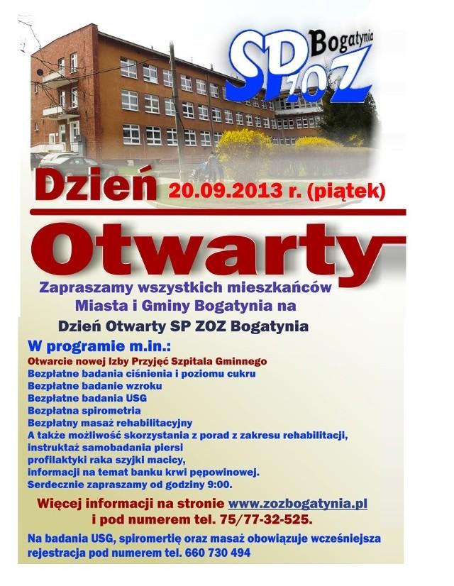 Dzień otwarty szpitala w Bogatyni już 20 września