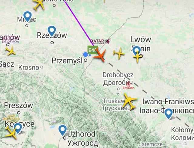 Codziennie nad Przemyślem i powiatem przemyskim przelatują samoloty udające się do wielu krajów świata.