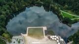 Zbiorniki w Parku Lisiniec w Częstochowie oraz zalew w Blachowni z lotu ptaka