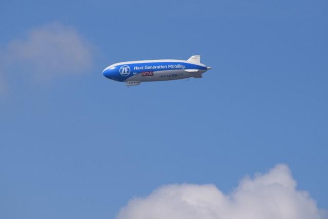Zeppelin ZF przeleciał nad Częstochową. Zdjęcia z Rakowa
