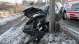 Wypadek w Korzennej. Citroen rozbity. Kierowca w szpitalu [ZDJĘCIA]